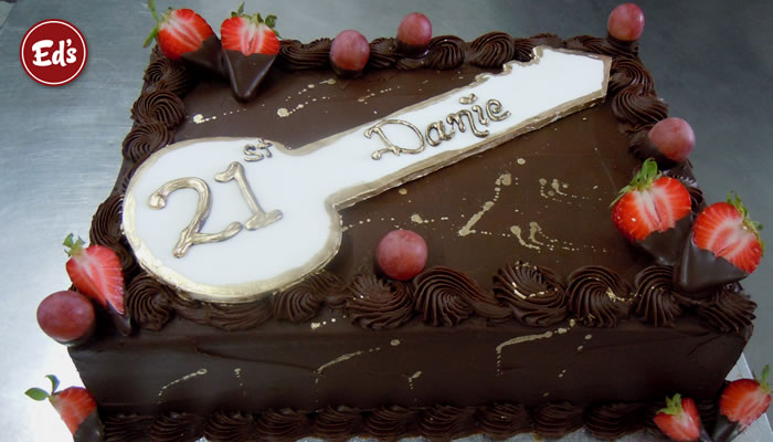 Key Cake Designs For 21st Birthday : Ed s Cake & Coffee House - Birthday Wedding Catering